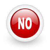 No red circle glossy web icon on white background — Stock Photo