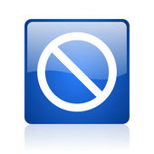 Access denied blue square glossy web icon on white background — Stock Photo