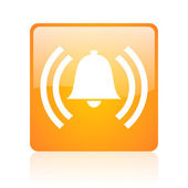 Alarm orange square glossy web icon — Stock Photo