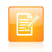 Subscribe orange square glossy web icon — Stock Photo