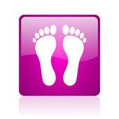 Fußabdruck violet quadrat web glossy ii — Stockfoto