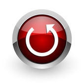 Rotate red circle web glossy icon — Stock Photo
