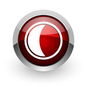 Moon red circle web glossy icon — Stock Photo