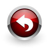 Nuevo icono brillante círculo rojo web — Foto de Stock