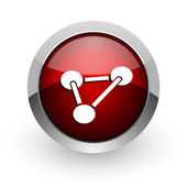 Chemistry red circle web glossy icon — Stock Photo