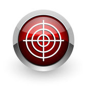 Target red circle web glossy icon — Stock Photo