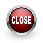 Close red circle web glossy icon — Stock Photo