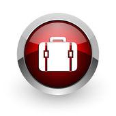Baggage red circle web glossy icon — Stock Photo