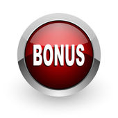 Bonus red circle web glossy icon — Stock Photo