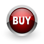 Buy red circle web glossy icon — Stock Photo