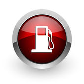Fuel red circle web glossy icon — Stock Photo