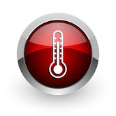 Thermometer red circle web glossy icon — Stock Photo