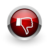 Thumb down red circle web glossy icon — Stock Photo