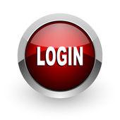 Logout red circle web glossy icon — Stock Photo