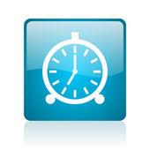 Search blue square web glossy icon — Stock Photo