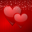 Valentine vector background with hearts — Stok fotoğraf