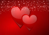 Valentine vector background with hearts — Stock Photo