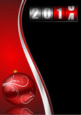 2014 new years illustration with counter and christmas ball — Stockfoto