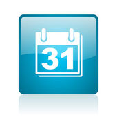 Icono brillante del calendario web cuadrado azul — Foto de Stock