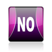 No violet square web glossy icon — Stock Photo