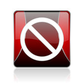 Access denied red square web glossy icon — Stock Photo