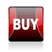 Buy red square web glossy icon — Stock Photo