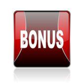 Bonus red square web glossy icon — Stock Photo
