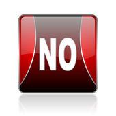 No red square web glossy icon — Stock Photo