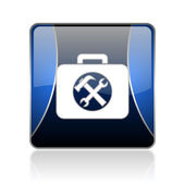 Toolkit blue square web glossy icon — Stock Photo