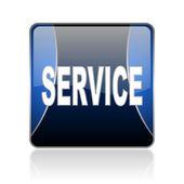 Service blue square web glossy icon — Stock Photo