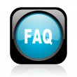 Faq black and blue square web glossy icon - Stock Photo