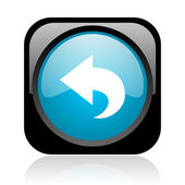 Back black and blue square web glossy icon — Stock Photo