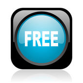 Free black and blue square web glossy icon — Stock Photo