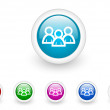 Forum circle web glossy icon colorful set - Photo