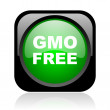 Gmo free black and green square web glossy icon - Stock Photo