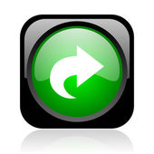 Next black and green square web glossy icon — Stock Photo