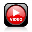 Video black and red square web glossy icon — Stock Photo #23815575