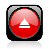 Eject black and red square web glossy icon — Stock Photo
