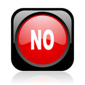 No black and red square web glossy icon — Stock Photo