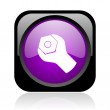 Tools black and violet square web glossy icon - Stock Photo