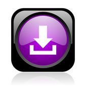 Download black and violet square web glossy icon — Stock Photo