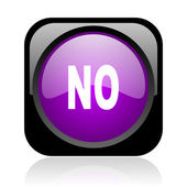 No black and violet square web glossy icon — Stock Photo