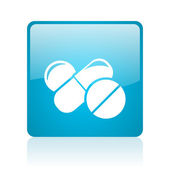 Piller blå torget web blanka ikonen — Stockfoto