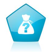 Riddle blue pentagon web glossy icon — Stock Photo