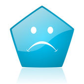 Cry blue pentagon web glossy icon — Stock Photo