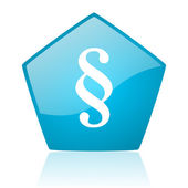 Paragraph blue pentagon web glossy icon — Stock Photo