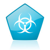Virus blue pentagon web glossy icon — Stock Photo