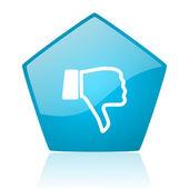 Dislike blue pentagon web glossy icon — Stock Photo