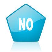 No blue pentagon web glossy icon — Stock Photo