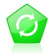 Reload green pentagon web glossy icon — Stock Photo #24230831